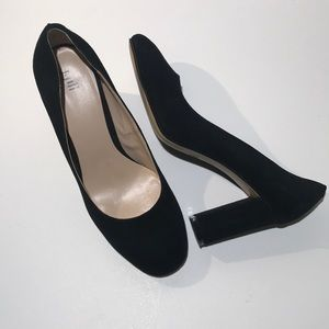 J JIll Suede Pumps Block Heel Classic Career